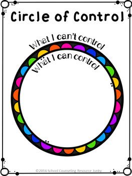 Early Elementary Counseling: What Are Things I Can Control & I Can't Control