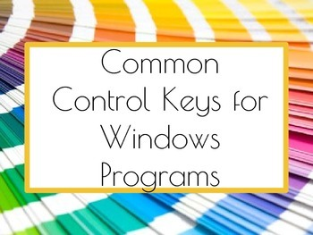 Control Keys Posters/Word Wall