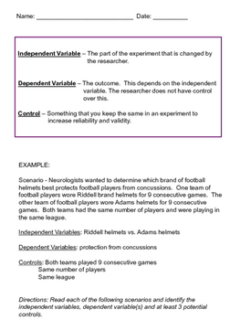 Control & Variable Practice