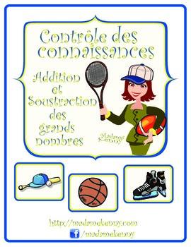 Math Worksheets in French:Daily Math Review-Controle des connaissances de maths