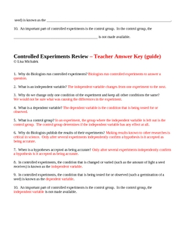 Controlled Experiments Review Assignment