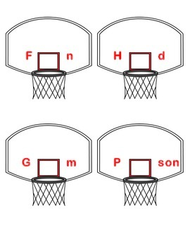 Controlled R Basketball - Words with ER, IR, and UR