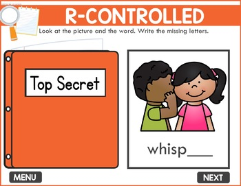 Controlled R Game -  Phonics Game for Smartboards & Whiteboards