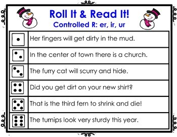 Controlled R Roll It!  Read It! Game Cards