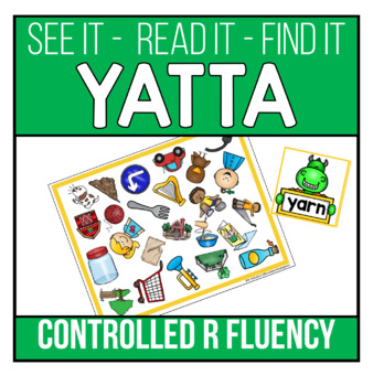 Controlled R Words Recognition and Fluency Yatta - Color or B/W Printable Game