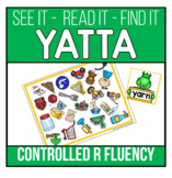 Controlled R Words Recognition and Fluency Yatta - Color o