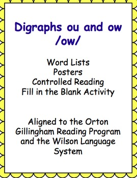 Controlled Reading and Activities - ow (ou) sound