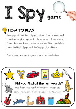 Controlled 'r' Sound Mazes and I Spy Games Bundle