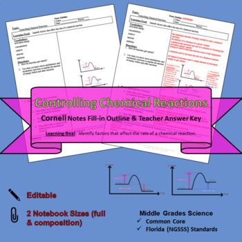 Controlling Chemical Reactions Cornell Notes #45