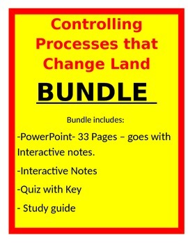 Controlling Processes That Change Land -BUNDLE- 5th Science
