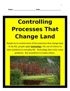 Controlling Processes That Change Land INTERACTIVE NOTES -5th Science
