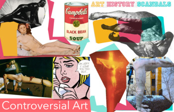 Controversial Art from Artists ~ Art History ~ FREE POSTER