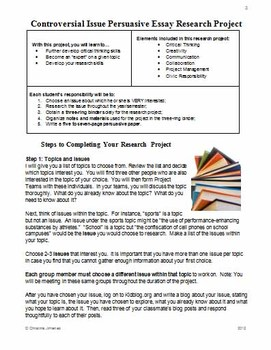 How To Start A Proposal Essay Controversial Issue Persuasive Essay Research Project  A Common Core Lesson Essay About Science And Technology also Photosynthesis Essay Controversial Issue Persuasive Essay Research Project  A Common  Essay Paper Writing Service