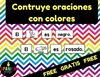 Contruye oraciones con los colores (Free Gratis) Colors in Spanish