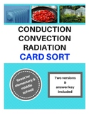 Convection Conduction Radiation Card Sort