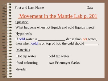 Convection Currents in the Mantle Lab Lesson 04