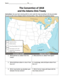 Convention of 1818 & Adams-Onis Treaty Maps  / Treaties wi