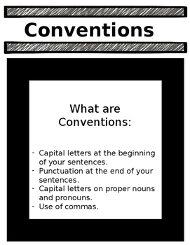Conventions - Capital Letter, Punctuation, Proper Nouns and Commas