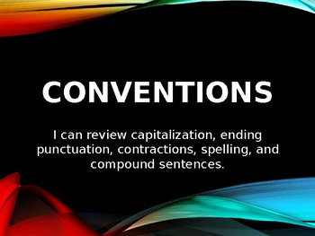 Conventions Review Mini-Lessons for the week Powerpoint