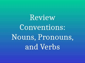 Conventions Review PowerPoint