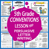 Capitalization & Punctuation Worksheets + Conventions Lesson, Persuasive Writing
