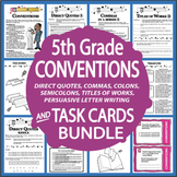 Capitalization & Punctuation Worksheets & Lesson + Writing Conventions Practice