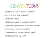 Conventions check sheet