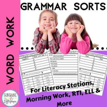 Parts of Speech,Grammar, Word Sorts, Sentences & More for First Grade