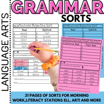 Parts of Speech,Grammar Word Work:Conventions of Standard