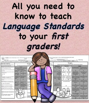 Language Standards at a Glance First Grade