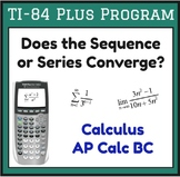 Convergence of a Series or Sequence - TI 84 Plus Program