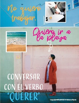 Conversar: el verbo 'Querer'. Speaking activity with likes and wants. Adaptable!