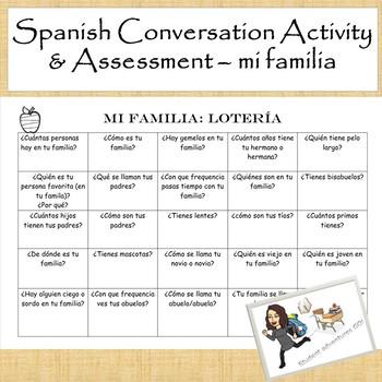 Conversation Activity & Assessment: mi familia