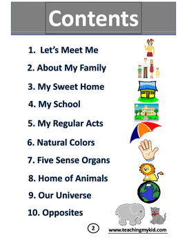Kindergarten worksheets English Conversation Activitybook.