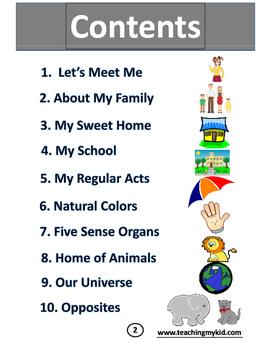 Kindergarten worksheets English Conversation Activitybook.