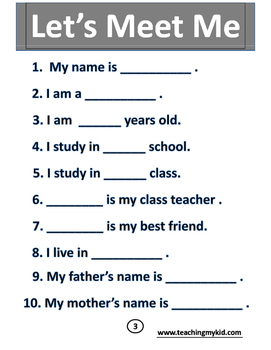 Kindergarten worksheets English Conversation Activitybook. by ...