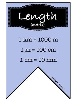 Conversation Banner- Length, Volume, Roman Numerals, Temperature and more