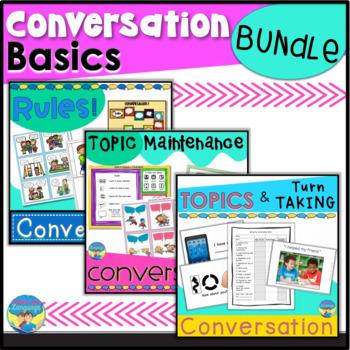 Social Skills | Conversation Basics Activities | Initiate  Turns  Maintenance