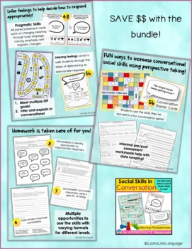 Conversation Skills and Social Skills Bundle for All Ages