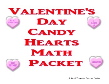 Conversation Candy Heart Math Packet