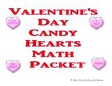 Conversation Candy Heart Math Packet