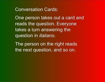 Conversation Card instructions on SMARTNotebook