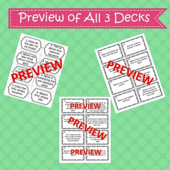 Conversation Starter Task Cards - 120 Card Bundle