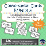 Conversation Starter Task Cards - 120 Card Bundle