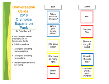 Conversation Cards: 2016 Rio Olympics Expansion Pack
