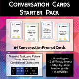 English Conversation Prompt Cards Starter Pack (64 cards)