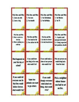 128 Conversation Cards (Adult)