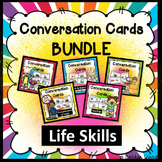 ESL Activities: Conversation Cards BUNDLE Life Skills