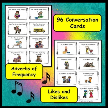 ESL Conversation Activities BUNDLE:  Present Tense