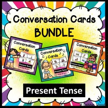 ESL Activities: Conversation Cards BUNDLE  Present Tense